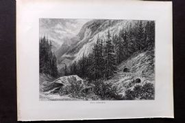 Picturesque Europe 1870s Antique Print. Near Hornberg, Germany